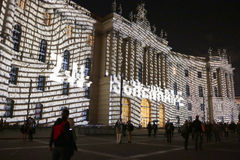 Festival de luzes Berlim Imagens de Stock Royalty Free