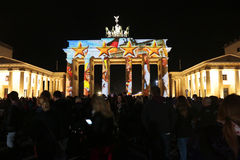 Festival de luzes Berlim Foto de Stock Royalty Free