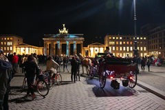 Festival de luzes Berlim Imagem de Stock