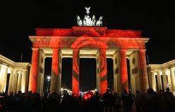 Festival de luzes Berlim Fotos de Stock Royalty Free