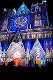 Festival de Lyon de las luces 2008 Foto de archivo libre de regalías