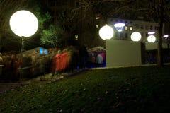 Festival de Lyon de luzes 2008 Fotos de Stock