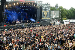 Festival de métaux lourds de Wacken Allemagne 2009 Images libres de droits