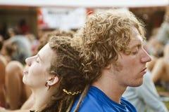 Festival de música Budapest de Sziget Hungria Fotos de Stock Royalty Free