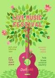 Festival de música da mola ilustração royalty free