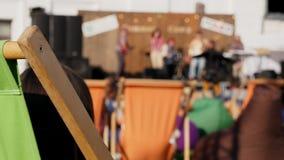 Festival de música da rua Partido do verão na cidade filme