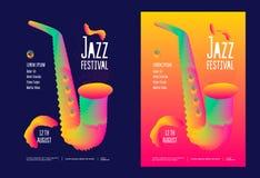 Festival de música jazz ilustração stock