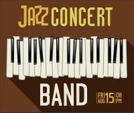 Festival de música jazz, cartaz Imagens de Stock