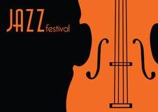 Festival de música de jazz, plantilla del fondo del cartel libre illustration