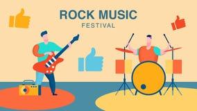 Festival de música rock, ilustração do vetor do concerto ilustração stock