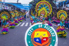 Festival 2018 de Masskara images stock