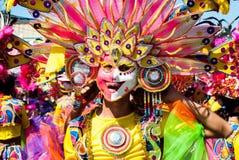 Festival de Masskara Cidade de Bacolod, Filipinas foto de stock royalty free