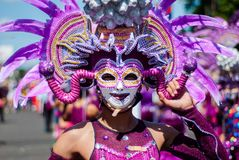 Festival de Masskara Ville de Bacolod, Philippines Photographie stock libre de droits
