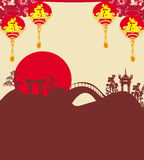 Festival de mediados de otoño por Año Nuevo chino Fotos de archivo