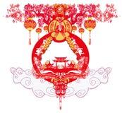 Festival de mediados de otoño por Año Nuevo chino Imagen de archivo