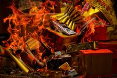 Festival de meng de Chen de Chinois - lignée thaïlandaise Images stock