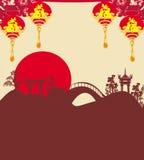 Festival de Mi-automne pendant la nouvelle année chinoise Photos stock
