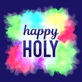 Festival de mola feliz de Holi Fundo colorido para as cores do feriado Teste padrão abstrato Fotografia de Stock