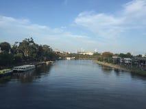 Festival de Momba - visión desde el río de Yarra imagen de archivo