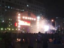 Festival de música mojado Imagen de archivo libre de regalías