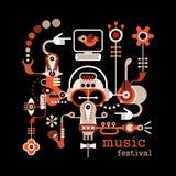 Festival de musique illustration stock