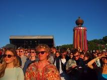 Festival de musique britannique au soleil Images stock