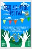 Festival de musique d'air ouvert Live Event Vector Poster Design Illustration Libre de Droits