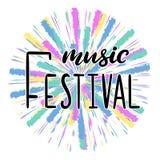 Festival de musique marquant avec des lettres l'illustration de vecteur illustration libre de droits