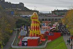 Festival de Noël au centre de la ville d'Edimbourg Photos stock