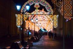 Festival de Noël d'hiver à Moscou Russie Photo libre de droits