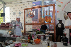 Festival de nourriture de rue à Kiev, Ukraine Photographie stock libre de droits