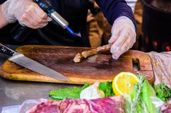 Festival de nourriture de rue Préparation de viande Viande de cuisson photo libre de droits
