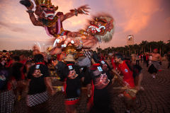 Festival de Ogoh-Ogoh, el 11 de marzo de 2013 Imágenes de archivo libres de regalías