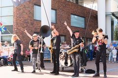 festival de Países Baixos-Winschoten Waterbei da rua-arte Foto de Stock