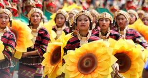 Festival de Panagbenga, ville de Baguio Image libre de droits