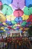 Festival de parapluie en Indonésie Photographie stock
