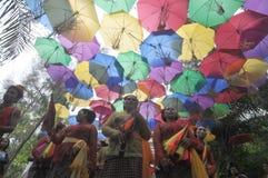 Festival de parapluie en Indonésie photos libres de droits