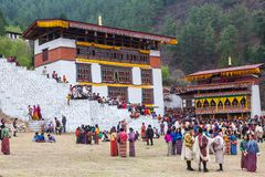 Festival de Paro Tsechu au Bhutan image stock