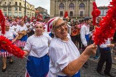 Festival de participants de St John Se produit chaque année pendant le milieu de l'été Image libre de droits