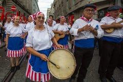 Festival de participants de St John Se produit chaque année pendant le milieu de l'été Image stock