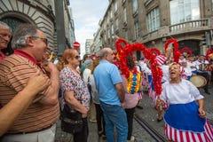 Festival de participants de St John Se produit chaque année pendant le milieu de l'été Photographie stock libre de droits