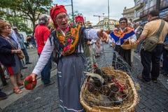 Festival de participants de St John Se produit chaque année pendant le milieu de l'été Photo stock