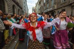 Festival de participants de St John Se produit chaque année pendant le milieu de l'été Photos stock