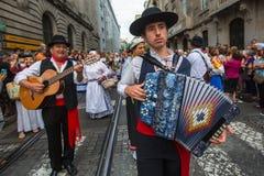 Festival de participants de St John Se produit chaque année pendant le milieu de l'été, Porto Image stock
