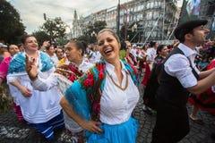 Festival de participants de St John Se produit chaque année pendant le milieu de l'été, Porto Image libre de droits