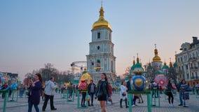 Festival de Pascua en Kiev, Ucrania almacen de metraje de vídeo