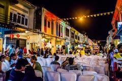 Festival de passeio da rua da noite da cidade de Phuket Fotos de Stock
