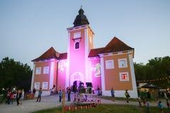 Festival de Perunfest no castelo de Lukavec imagem de stock