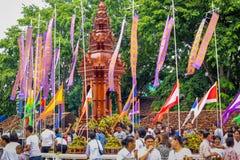 Festival de pilier de ville d'Inthakin Image libre de droits