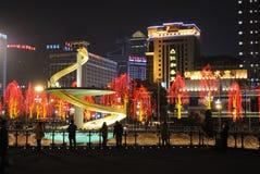 festival de primavera de 2013 chinos en Chengdu Imágenes de archivo libres de regalías